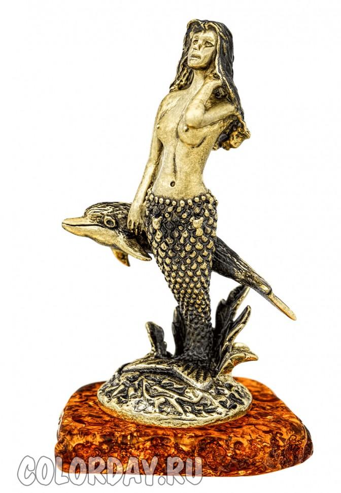 """бронзовая статуэтка из сказки """"Дельфин и Русалка"""" на ..."""