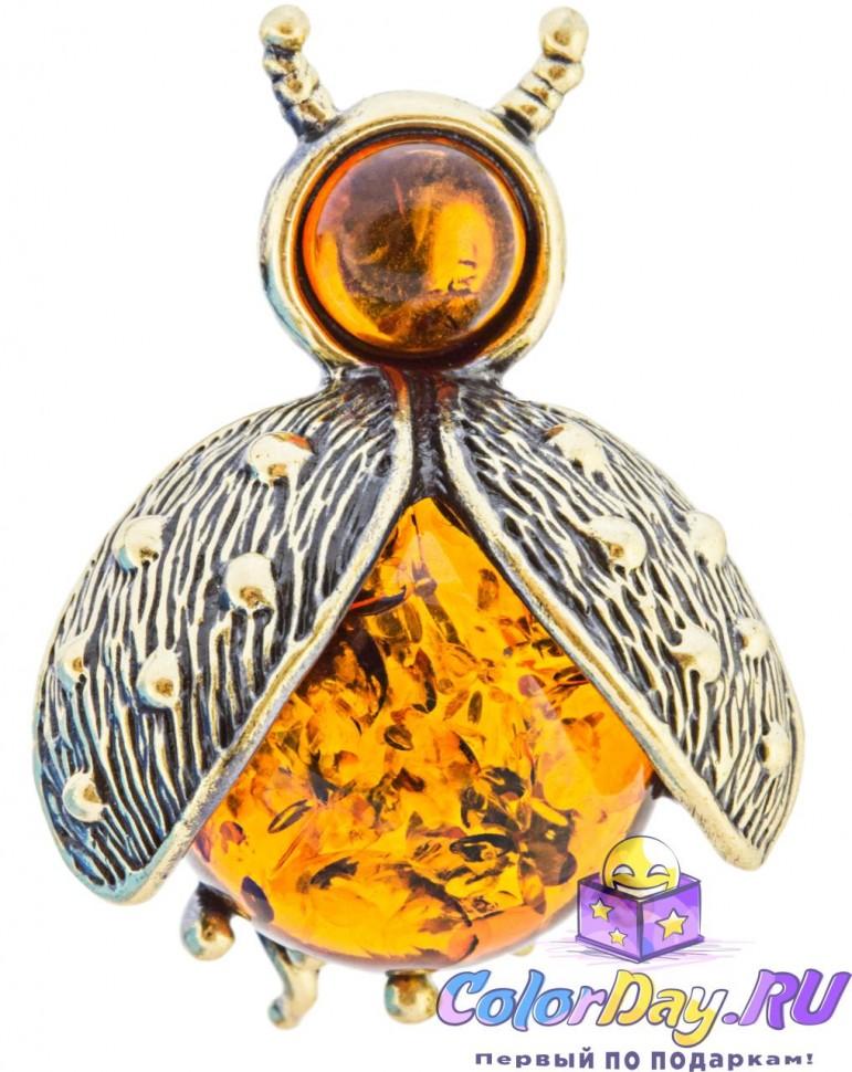 3d130d2716b8 украшение с янтарем - брошь